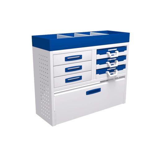 Service-System bedrijfswageninrichting K-2-100 - Voordelige inrichting - modulaire opbouw - kasten, ladeblokken en accessoires