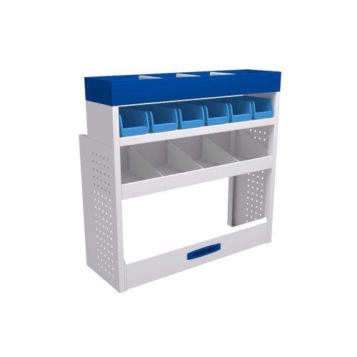 Service-System bedrijfswageninrichting K-3-100 - Voordelige inrichting - modulaire opbouw - kasten, ladeblokken en accessoires