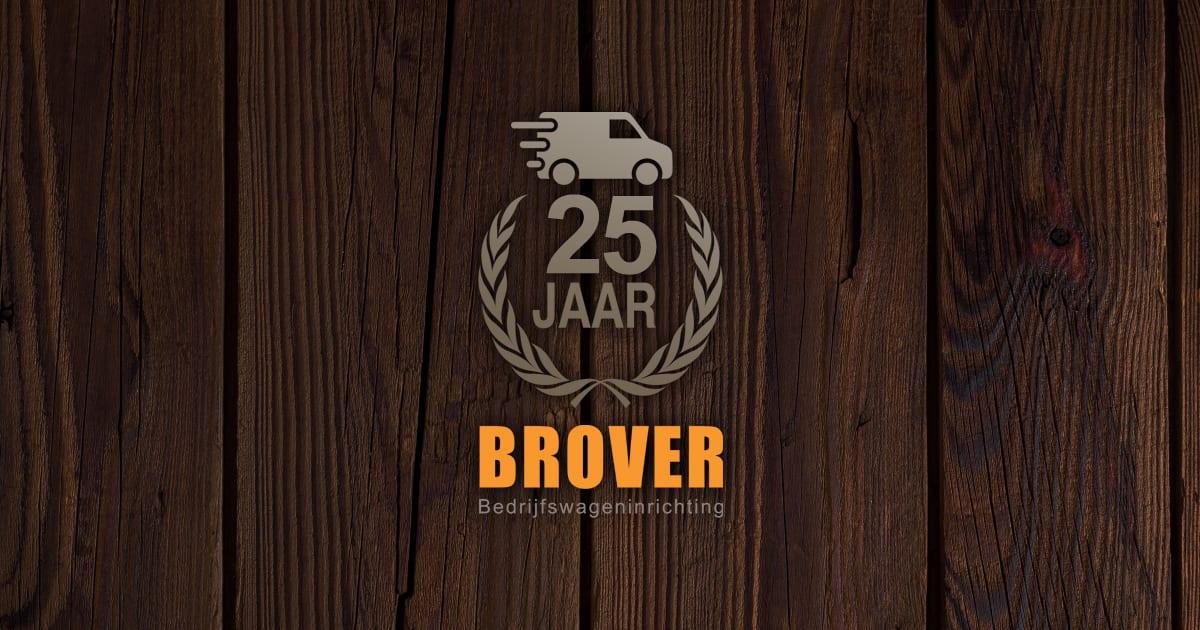 Brover Bedrijfswageninrichting - Logo 25 jaar
